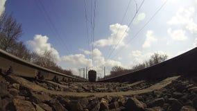 Train Rides on Rails stock footage