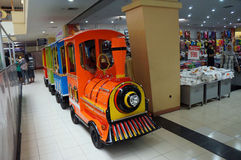 Train rides Stock Image