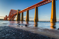 Train riding on the Forth Road Bridge Stock Images