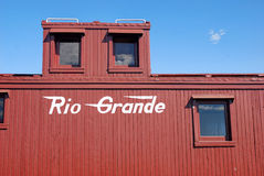 Train Rio Grande de charbon du Colorado images stock