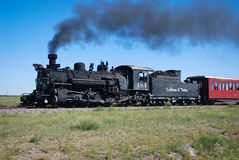 Train Rio Grande de charbon du Colorado photo stock