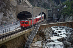 Train and river Royalty Free Stock Image