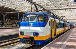 Train at Rotterdam Centraal railway station. The Netherlands Royalty Free Stock Photos