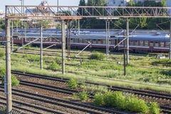Train roumain photographie stock libre de droits