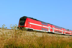 Train on a rout Ashkelon-Ashdod. Israel. Royalty Free Stock Images
