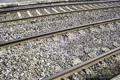 Train routes stones Stock Photos