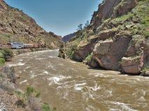 Train royal d'itinéraire de gorge du ` s du Colorado photos stock
