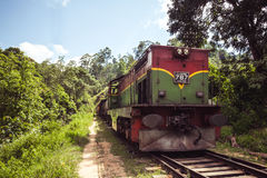 Train rumbles through the forests and highlands around Ella, Sri Stock Image