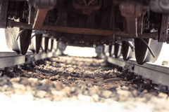 Train Run Over Stock Image