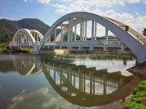 Railway bridge river at Lampang, Thailand. Stock Images