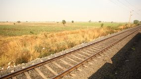 Train running through rural area.  stock footage