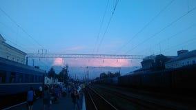 Train& x27; s-Tumult stockfotografie