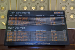 Train schedule board Royalty Free Stock Photography