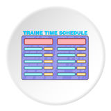 Train schedule icon, cartoon style. Train schedule icon. artoon illustration of train schedule vector icon for web Stock Photos