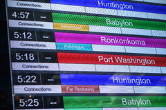Train Schedule royalty free stock photo
