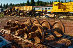Train scrap yard Stock Photo