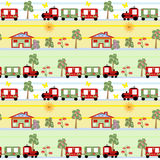 Train seamless kids pattern background Stock Photo