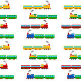 Train seamless pattern Stock Photos