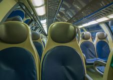 Train seat in the train royalty free stock photography