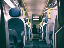 Train seat Stock Photography