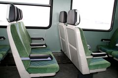 Train seats Royalty Free Stock Images