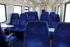 Train Seats. Inside of a modern railway train car Stock Photos