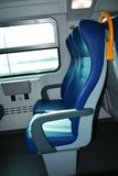 Train seats and landscape Stock Photography
