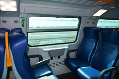 Train seats and railway stock image