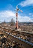 Train Semaphore Stock Photo
