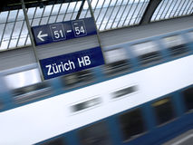 Train series: Zurich station Stock Images