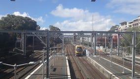 Train service of Sydney, Australia. Train service sydney australia pawankawan nsw platform sky stock image