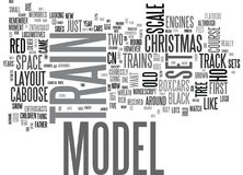 A Train Set For Christmas Word Cloud Royalty Free Stock Photos