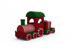 Train set with gift Stock Images