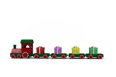 Train set with gift boxes Stock Photos