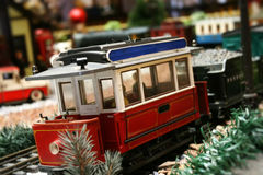 Train set miniature detail. Detail of a train set miniature royalty free stock photos