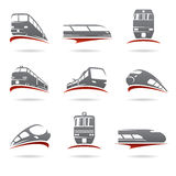 Train set. Vector. Illustration collection commuter commuting Royalty Free Stock Photos