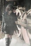 Train sexy de femme et de vapeur photos stock