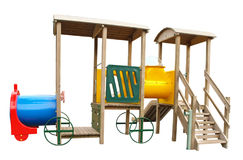 Train Shaped Childrens Playground Equipment Royalty Free Stock Photography