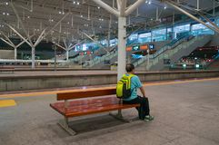 Train in Shenzhen Railway Station stock photography