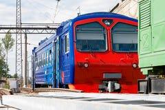 Train on a siding. Train is on the siding on a sunny day Stock Photos