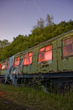 Train at sidings light painted Royalty Free Stock Images