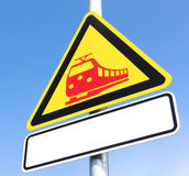 Train sign Royalty Free Stock Photos
