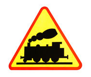 train sign. isolated Royalty Free Stock Photo