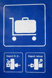 Train sign Stock Images