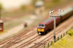 Train signals Royalty Free Stock Image