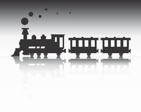 Train silhouette Royalty Free Stock Images