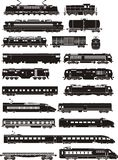 Train silhouettes Royalty Free Stock Image
