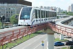 Train simple de longeron à Moscou Photographie stock