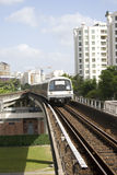Train in Singapore. SMRT, Singapore most common public transport Royalty Free Stock Photo