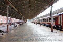 Train on Sirkeci railway station stock image